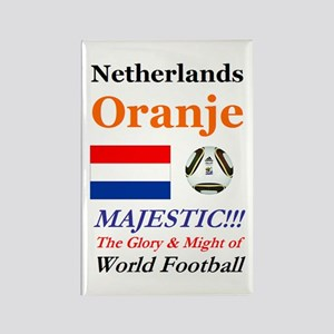 Netherlands World Soccer / Footba Rectangle Magnet