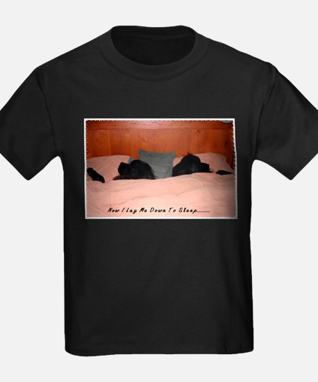Newfoundland Dogs Sleeping in Bed T