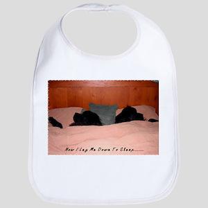 Newfoundland Dogs Sleeping in Bed Bib