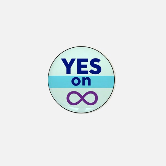 Yes On Infinity Mini Button