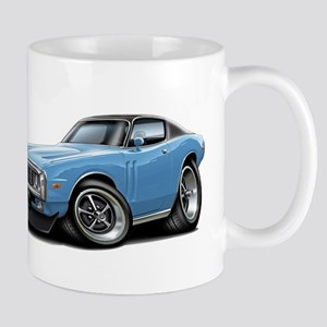 Charger Lt Blue-Black Car Mug