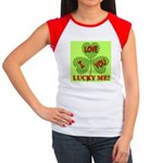 I Love You Lucky Me Women's Cap Sleeve T-Shirt