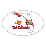 ILY Florida Sticker (Oval 10 pk)