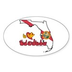 ILY Florida Sticker (Oval 50 pk)