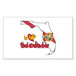 ILY Florida Sticker (Rectangle 10 pk)