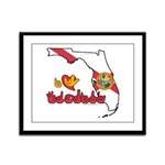 ILY Florida Framed Panel Print
