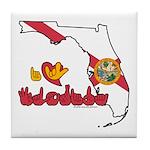 ILY Florida Tile Coaster