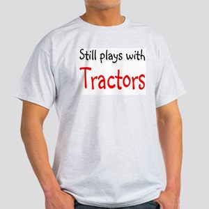 Still plays with Tractors Ash Grey T-Shirt