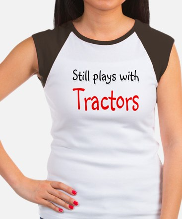 Still plays with Tractors Women's Cap Sleeve T-Shi