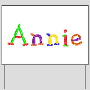 Annie Balloons Yard Sign