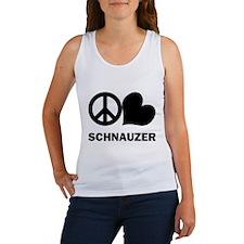 Peace Love Schnauzer Women's Tank Top