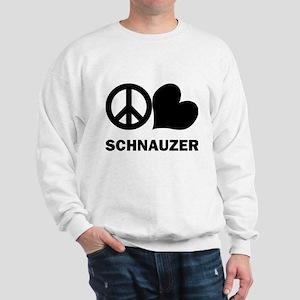 Peace Love Schnauzer Sweatshirt