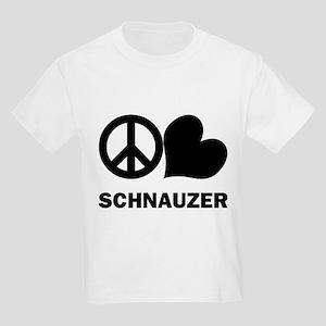 Peace Love Schnauzer Kids Light T-Shirt
