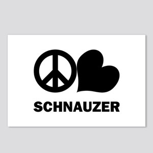 Peace Love Schnauzer Postcards (Package of 8)