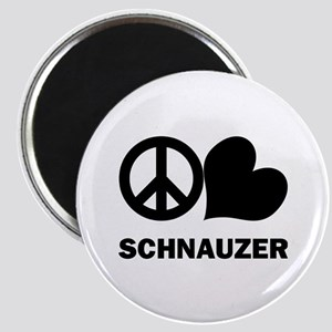 Peace Love Schnauzer Magnet
