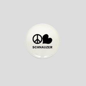 Peace Love Schnauzer Mini Button