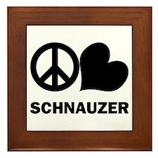 Peace Love Schnauzer Framed Tile