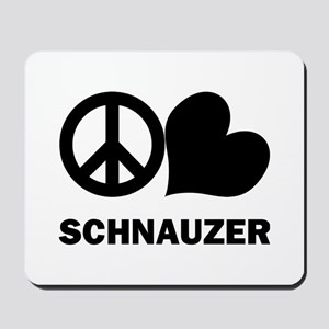 Peace Love Schnauzer Mousepad