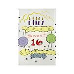 Sweet 16 Birthday Rectangle Magnet