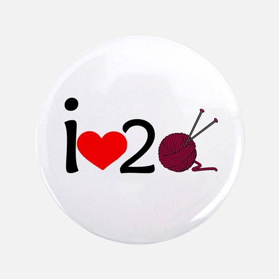 """i heart 2 knit 3.5"""" Button"""