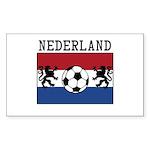 Nederland Soccer Sticker (Rectangle)