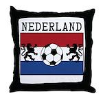 Nederland Soccer Throw Pillow