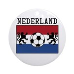 Nederland Soccer Ornament (Round)