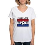 Nederland Soccer Women's V-Neck T-Shirt