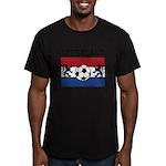 Nederland Soccer Men's Fitted T-Shirt (dark)