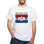 Nederland Soccer White T-Shirt