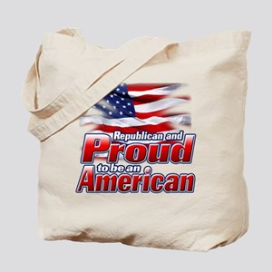Republican and Proud to be an American Tote Bag
