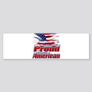 Republican and Proud to be an American Sticker (Bu