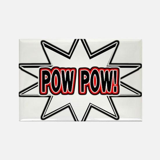 Pow Pow Rectangle Magnet (100 pack)