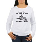 Don't Hangdog! Women's Long Sleeve T-Shirt