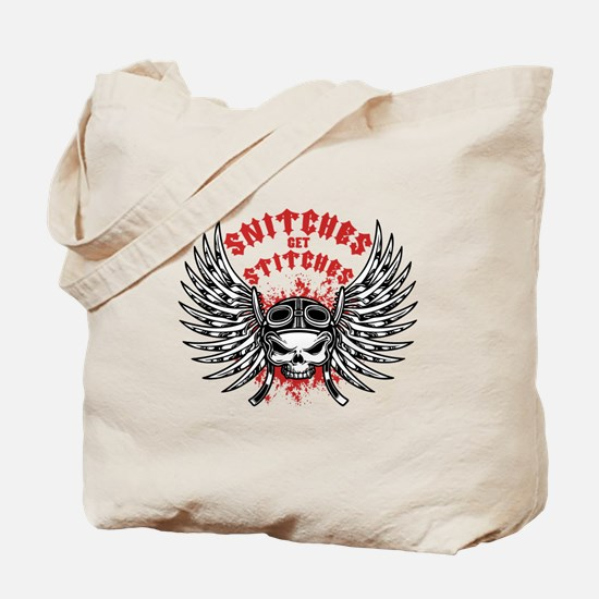 Snitches Get Stitches Tote Bag