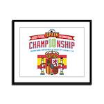 2010 Championship Framed Panel Print