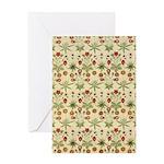 Flower Garden Tapestry Greeting Card