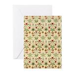 Flower Garden Tapestry Greeting Cards (Pk of 10)