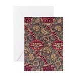 Art Nouveau Red Vines Greeting Card