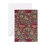 Art Nouveau Red Vines Greeting Cards (Pk of 10)