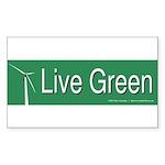Live Green Windmill Sticker (Rectangle 10 pk)