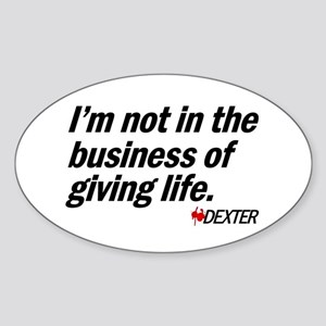 Business of Giving Life Sticker (Oval)