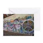 John Lennon Wall Imagine Greeting Card