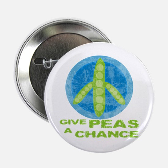 """Give Peas a Chance 2.25"""" Button"""