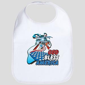 God Bless America (cross) Bib