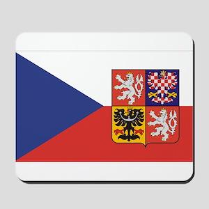 Czech Republic Flag & Seal Mousepad