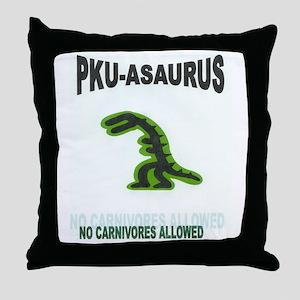 PKU-ASAURUS Throw Pillow