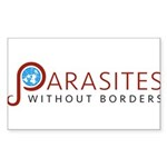 Parasites without Borders Logo Sticker