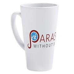 Parasites without Borders Logo 17 oz Latte Mug