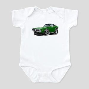 Charger Green-Black Car Infant Bodysuit
